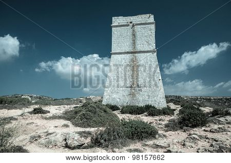 Tower Near Golden Bay, Malta