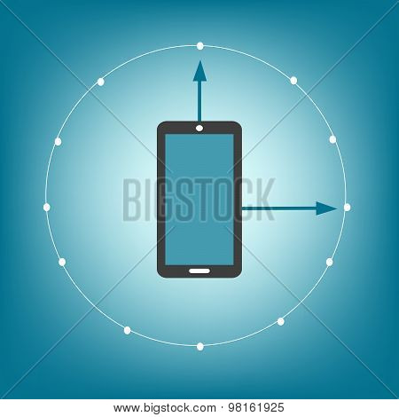 Smartphone Touchpad Movement Touch Screen Symbol Sign Icon