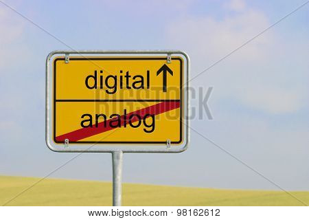 Sign Digital Analog