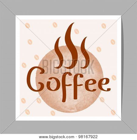 Vector Coffee Sign