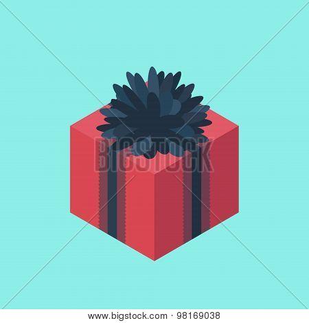 Isometric Gift Box Icon