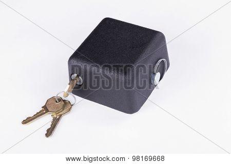 Door handle with lock. Door fittings