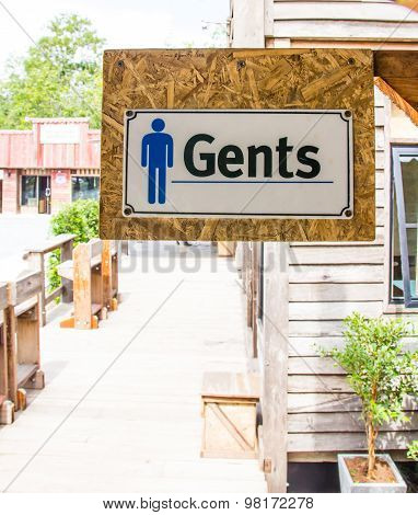 Sign Of Public Toilets