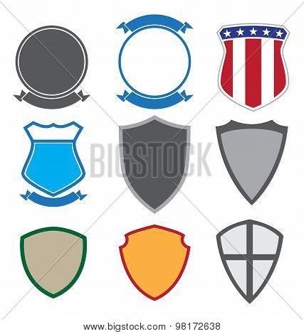 Shields, Badges and Insignias Set