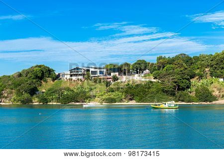 Beautiful bay in Vitoria, Espirito Santo in Brazil