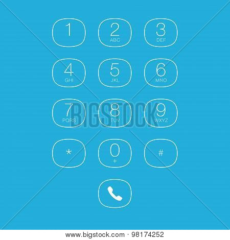 Phone Outline Keypad for Touchscreens