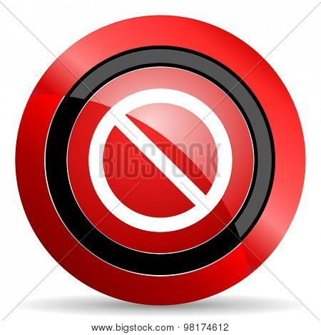 access denied red glossy web icon