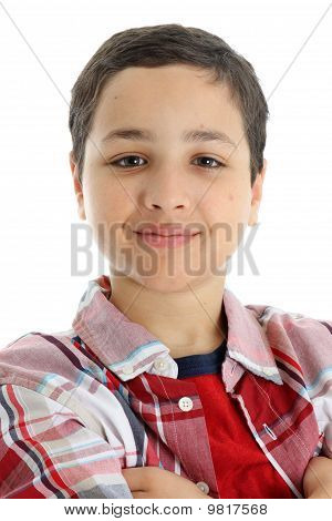 Child On White Background
