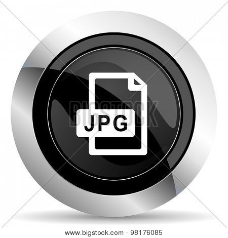 jpg file icon, black chrome button