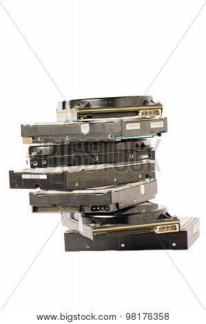 Pile Of Hard Disc
