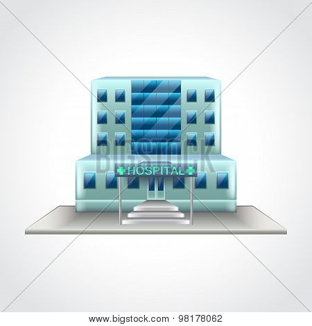 Hospital Building Isolated Vector Illustration