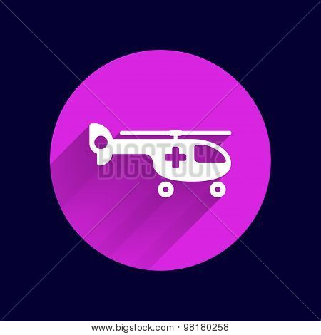 Helicopter ambulance icon medical vector air health