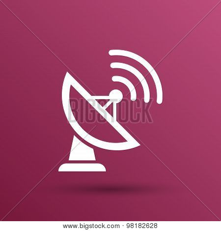 Radar Vector icon satellite dish tv technology