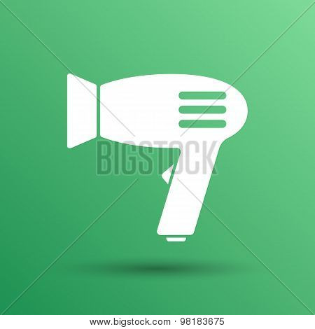Hairdryer sign icon. Hair drying symbol.Blowing hot air