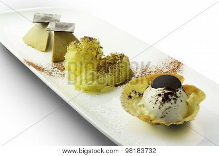 Dessert Tiramisu? Ice Cream Parfait And Mousse Chocolate