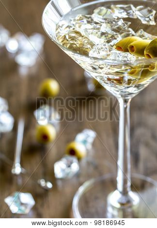 Olive Martini Cocktail