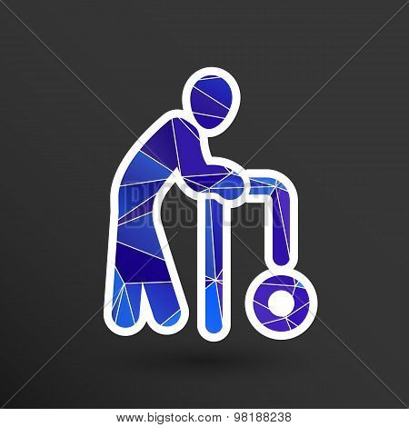 Elder Black Graphic Symbol Vector Illustration