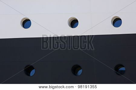 Portholes Cruise Ship Side