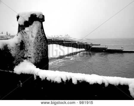 Whitstable Beach In Snow