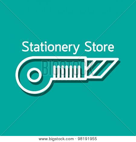 Linear logo for stationery store