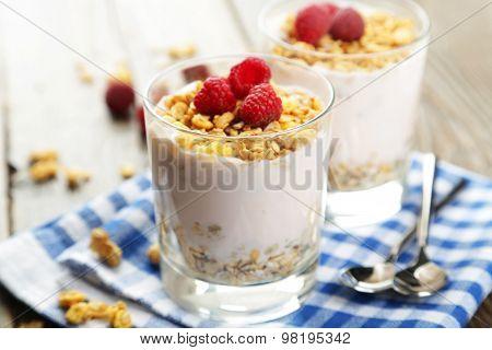 Muesli with yogurt