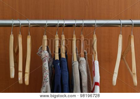 Clothes on a rail