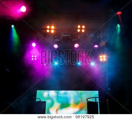 Dj Place On Scene At Nightclub