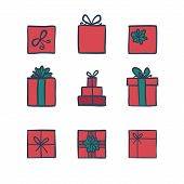 ������, ������: Hand Drawn Icons Gifts