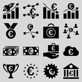 foto of passport template  - Euro banking business and service tools icons - JPG