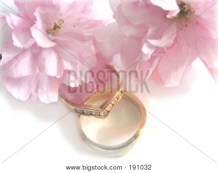 Wedding Bands And Blossom