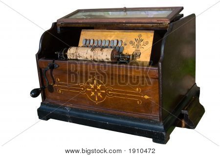 Barrel-Organ Isolated Over White Background