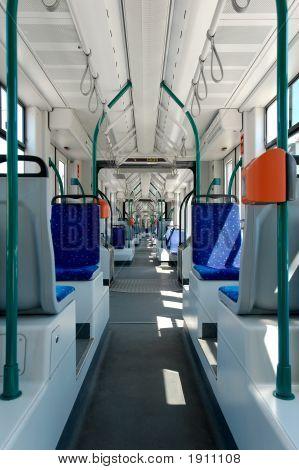 Longest Articulated Tram Interier