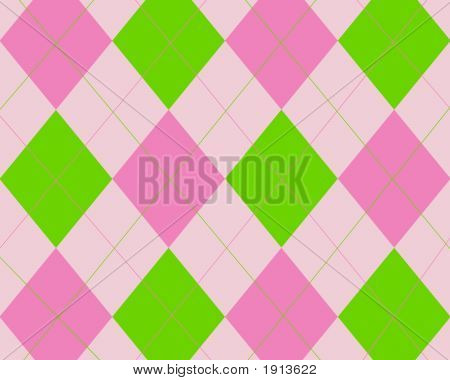 Green And Pink Argyle