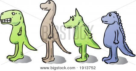 Cartoon Dinos