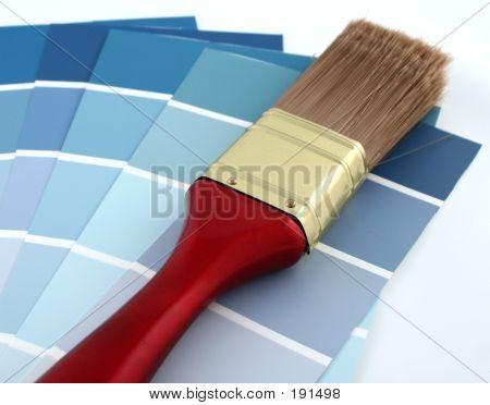 Blue Paint Samples