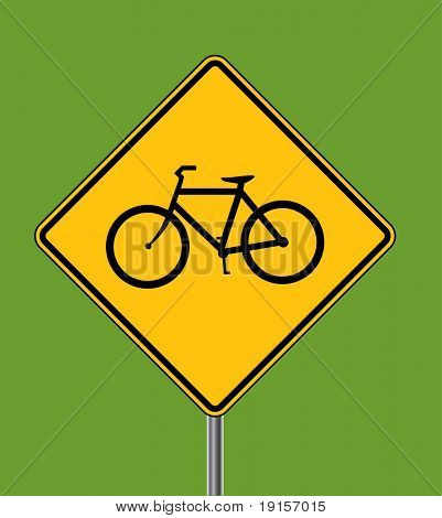 Bicycles ahead warning sign