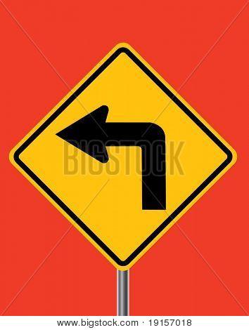 Nach links Verkehr Sign - Vektor