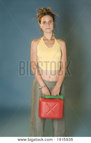 Woman With Jerry Can
