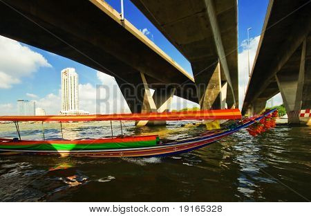 On the Chao Praya river. Bangkok. Kingdom Thailand.
