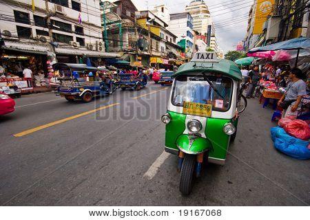 BANGKOK - JULY 29: Traditional street taxi