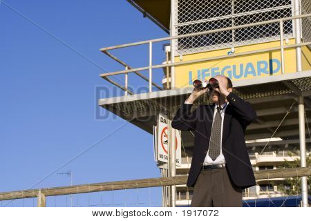 Business Lifeguard On Watch