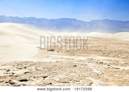 White sand dunes, Death Valley, California