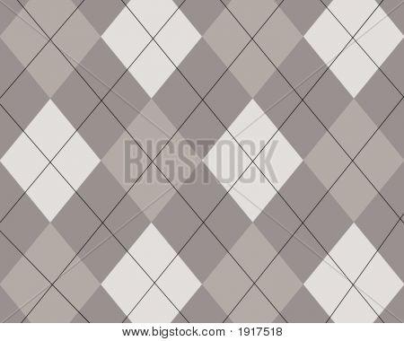 Grey And White Argyle Design