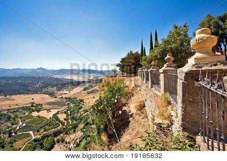 View on Spanish valley. ronda. Malaga