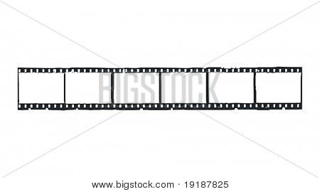 Straight filmstrip vector.