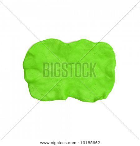 green plasticine texture