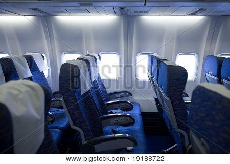 boeing airplaine interior empty