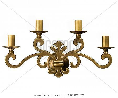 Jahrgang Tabelle Kerzenhalter, isoliert auf weiss
