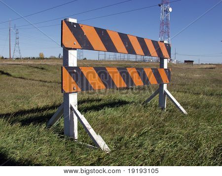 caution striped barrier