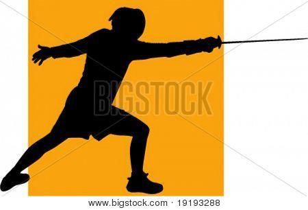 man fencing